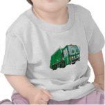Cartoon Garbage Truck Green T-shirt