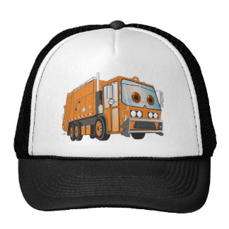 Cartoon Garbage Truck Orange Trucker Hat