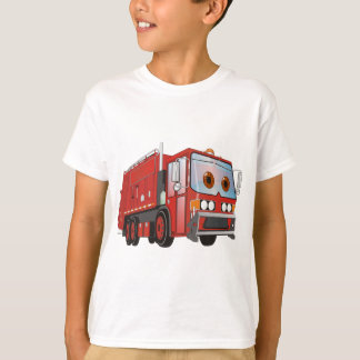 Cartoon Garbage Truck Red T-Shirt