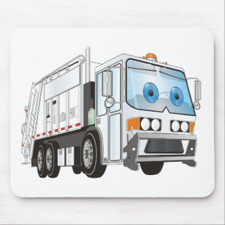 Cartoon Garbage Truck White Mouse Pad