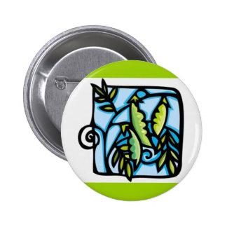 CARTOON GARDEN PEAS VEGETABLES BLUES GREENS NATURE PINS