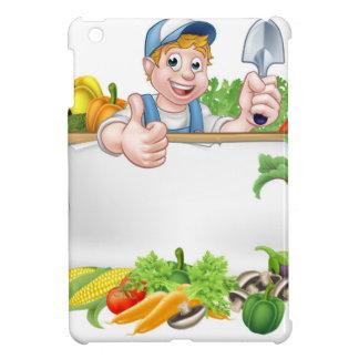 Cartoon Gardener Vegetables Sign iPad Mini Case