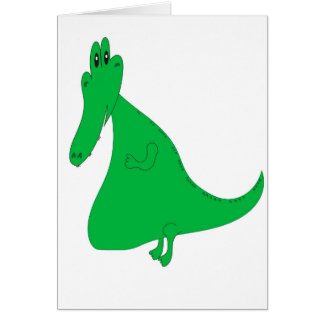 Cartoon Gator Card