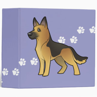 Cartoon German Shepherd Binder