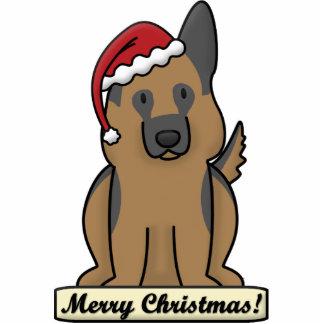 Cartoon German Shepherd Christmas Ornament