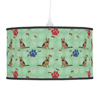 Cartoon German Shepherd Dog Hanging Lamp