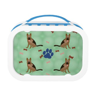 Cartoon German Shepherd Dog Lunch Box