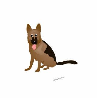 Cartoon German Shepherd Dog Photo Cutout
