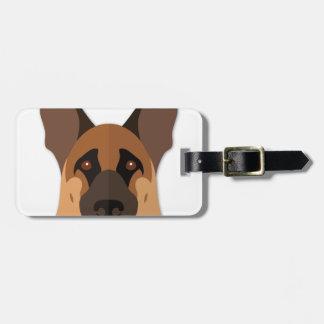Cartoon German Shepherd Head Tags For Luggage