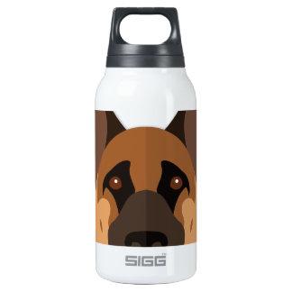 Cartoon German Shepherd Head Thermos Bottle