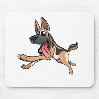 Cartoon German Shepherd Mouse Pad