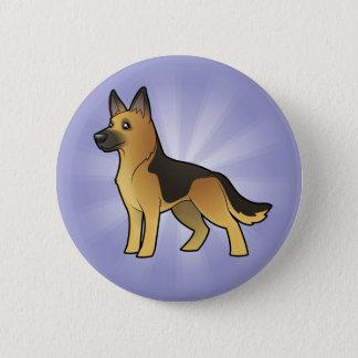Cartoon German Shepherd Pinback Button