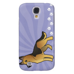 Cartoon German Shepherd Samsung Galaxy S4 Cover