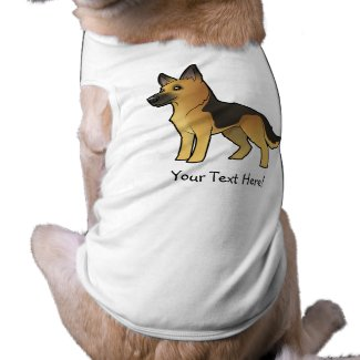 Cartoon German Shepherd Shirt/Clothes