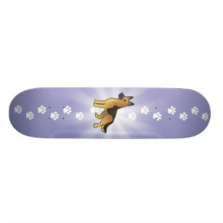 Cartoon German Shepherd Skateboard