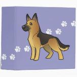 Cartoon German Shepherd Vinyl Binder