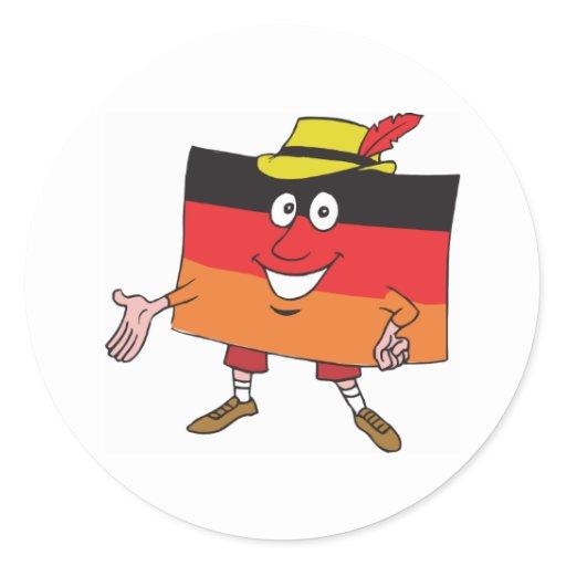 Cartoon Germany Sticker Zazzle