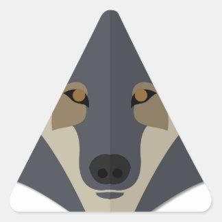 Cartoon Gey Wolf Sticker