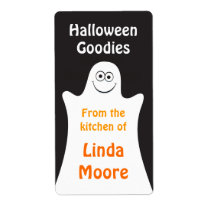 Cartoon ghost Halloween kitchen label Shipping Label
