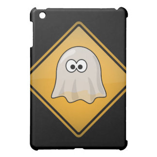 Cartoon Ghost Warning Sign Cover For The iPad Mini