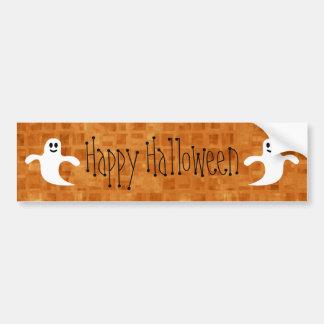 Cartoon Ghosts Happy Halloween Bumper Stickers
