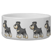 Cartoon Giant/Standard/Miniature Schnauzer Bowl