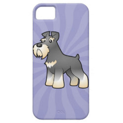 Cartoon Giant/Standard/Miniature Schnauzer iPhone SE/5/5s Case