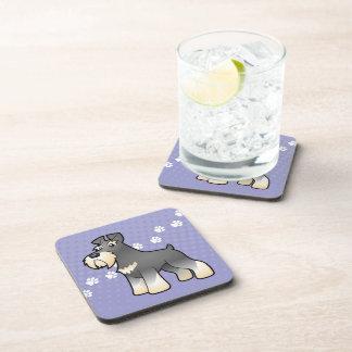 Cartoon Giant/Standard/Miniature Schnauzer Drink Coaster