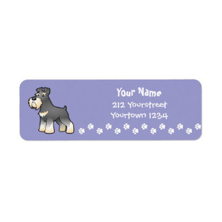 Cartoon Giant/Standard/Miniature Schnauzer Label