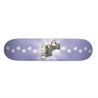 Cartoon Giant/Standard/Miniature Schnauzer Skateboard