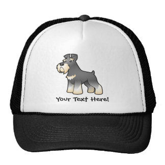 Cartoon Giant/Standard/Miniature Schnauzer Trucker Hat