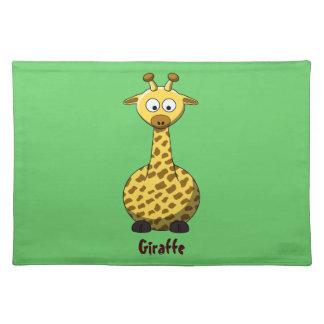 Cartoon Giraffe American MoJo Placemats