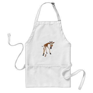 Cartoon Giraffe and Mouse Adult Apron