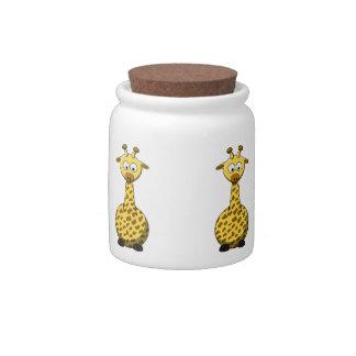 Cartoon Giraffe Candy Jar