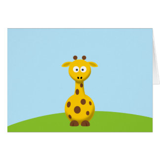 Cartoon Giraffe Card