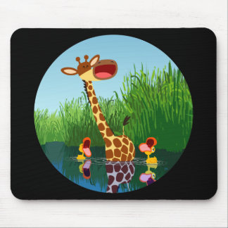 Cartoon Giraffe&Ducks (through telescope) Mousepad