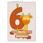 Cartoon Giraffe for Child's Birthday Greeting Card