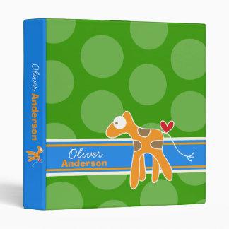 Cartoon Giraffe Fun Kids Custom Binder