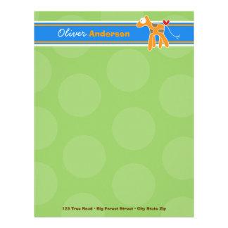 Cartoon Giraffe Fun Personal Custom Letterhead