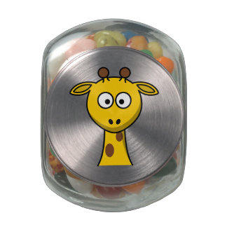Cartoon Giraffe Glass Jars