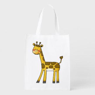 cartoon giraffe grocery bag
