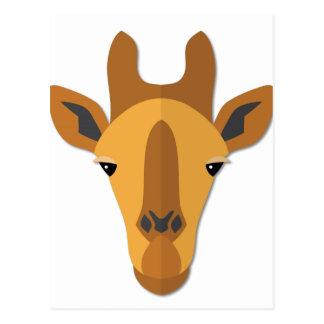 Cartoon Giraffe Head Postcard