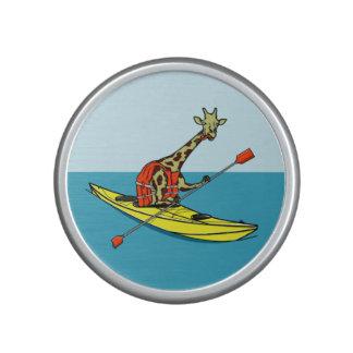 Cartoon Giraffe in a sea kayak Speaker