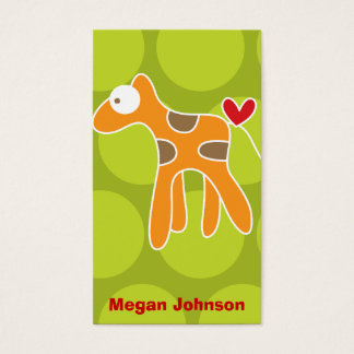 Cartoon Giraffe Kid Fun Custom Photo Profile Card