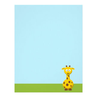 Cartoon Giraffe Letterhead