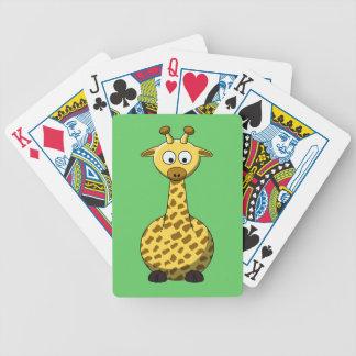 Cartoon Giraffe Playing Cards