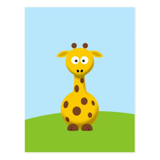 Cartoon Giraffe Postcard