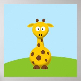 Cartoon Giraffe Poster