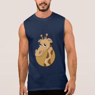 Cartoon giraffe sleeveless shirt