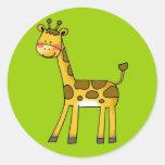 cartoon giraffe sticker